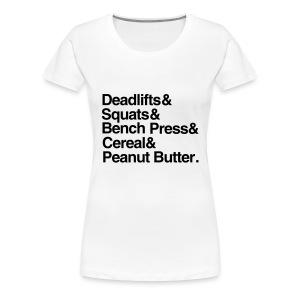 Deadlifts&Squats - Women's Premium T-Shirt