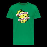 T-Shirts ~ Men's Premium T-Shirt ~ Raised on Cheese (Digital Print)