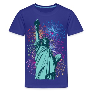 Lady Liberty Fireworks - Kids' Premium T-Shirt