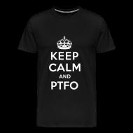T-Shirts ~ Men's Premium T-Shirt ~ Keep Calm and PTFO (Black)