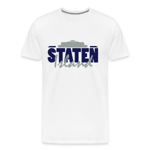 State Island White - Men's Premium T-Shirt