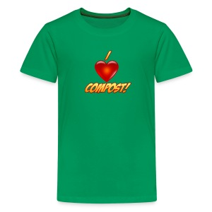Kid's I Heart Compost! Shirt - Kids' Premium T-Shirt