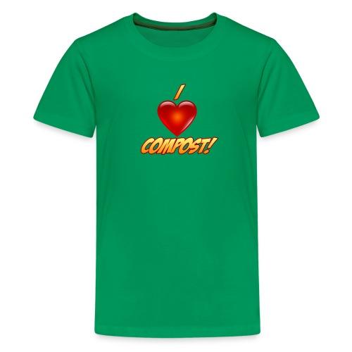 Kid's I Heart Compost! Shirt - Kids' Premium T-Shirt