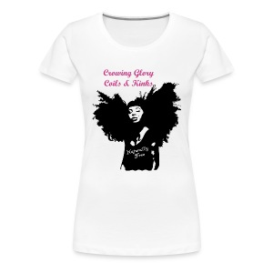 Official Crowning Glory Coils and Kinks Tee Shirt - Women's Premium T-Shirt