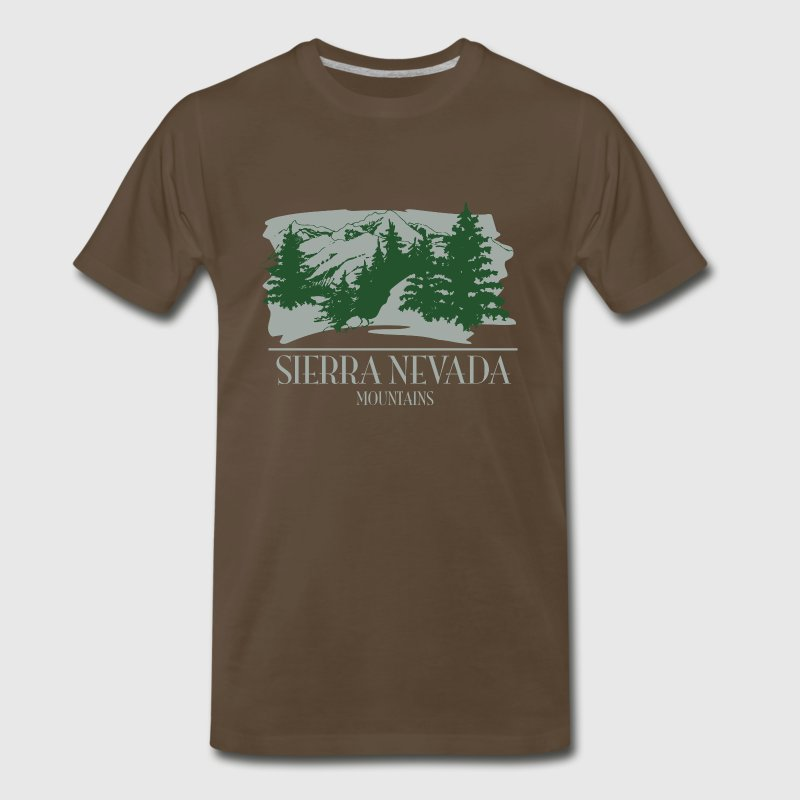 Sierra Nevada Mountain Scene T-Shirts - Men's Premium T-Shirt