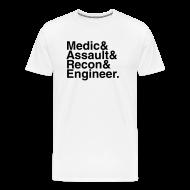 T-Shirts ~ Men's Premium T-Shirt ~ Battlefield: Bad Company 2: The Gang (White)