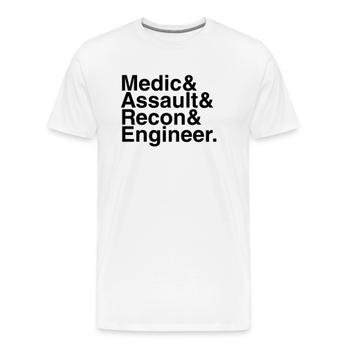 Battlefield: Bad Company 2: The Gang (White) - Men's Premium T-Shirt