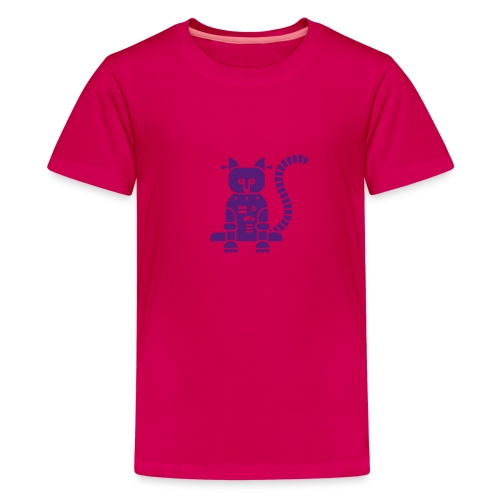 Purple Catbot - Kid - Kids' Premium T-Shirt