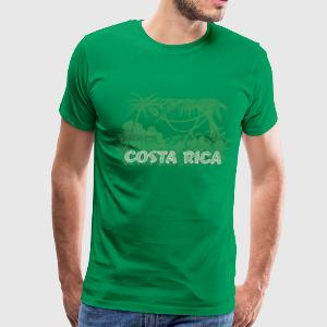 Vintage Costa Rica Jungle T-Shirts - Men's Premium T-Shirt