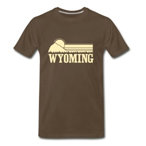 Wyoming Mountains T-Shirts - Men's Premium T-Shirt