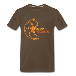 Mens T-Shirt Chocolate (Orange Logo)  - Men's Premium T-Shirt