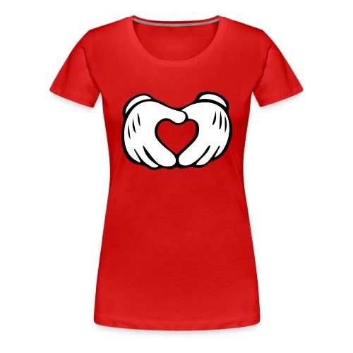 CPCS Mickey Mouse Heart Hands, Women's Shirt - Women's Premium T-Shirt