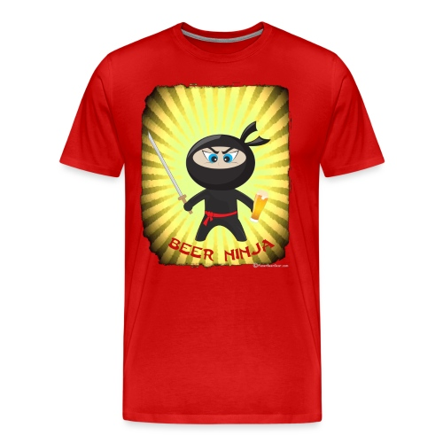 Beer Ninja Men's 3XL/4XL T-Shirt - Men's Premium T-Shirt