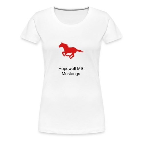 Womens Sizes Hopewell MS Mustangs - Women's Premium T-Shirt