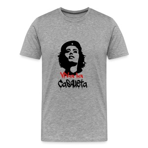 Viva la Casqueta! - Guerrillera Girl (Gray) - Men's Premium T-Shirt
