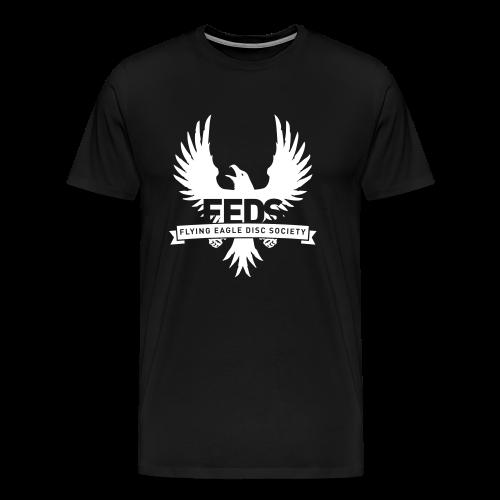 Men's Heavyweight T-Shirt - White Logo - Men's Premium T-Shirt