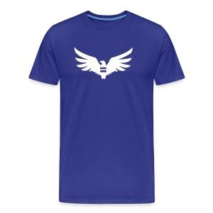 Men's Blue Equal Eagle 3XL/4XL T-Shirt - Men's Premium T-Shirt