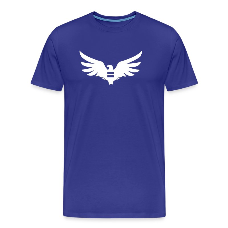 Men's Blue Equal Eagle 3XL/4XL T-Shirt - Men's Premium T-Shirt