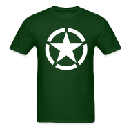 T-Shirts ~ Men's T-Shirt ~ Broken Ring White Star National Symbol