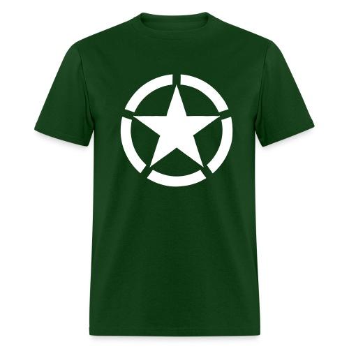Broken Ring White Star National Symbol - Men's T-Shirt