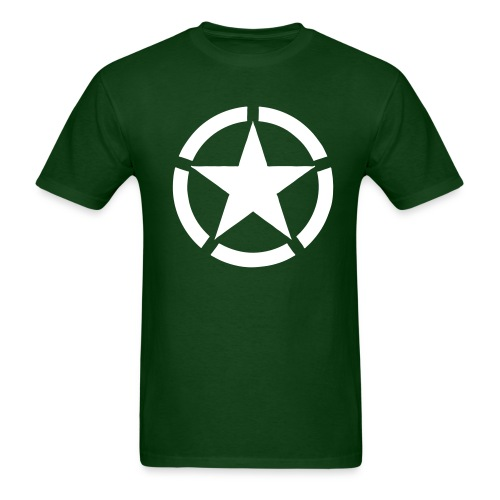 Broken Ring White Star National Symbol - Men's T-Shirt