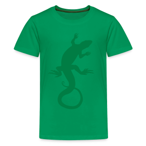 Kid's Lizard Shirt Retro Reptile Art T-shirts - Kids' Premium T-Shirt