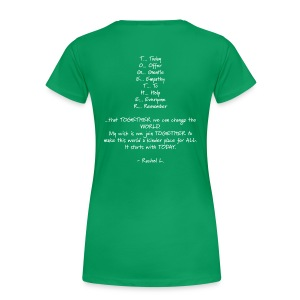 DailyStrength Spring Wish 2013 - Women's Premium T-Shirt