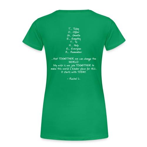 DailyStrength Spring Wish 2013 - Women's Premium T-Shirt