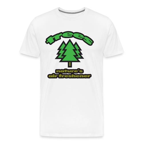 Trees: Nature's Air Freshener Heavyweight T-Shirt - Men's Premium T-Shirt