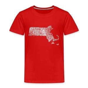 Massachusetts Fingerprint - Toddler Premium T-Shirt