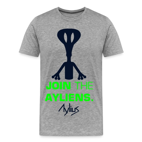 Join The Ayliens Tee (Neon Green/Black) - Men's Premium T-Shirt