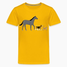 horse dog and cat Kids' Shirts