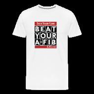 T-Shirts ~ Men's Premium T-Shirt ~ Seek Your Cure BeatYourA-Fib~