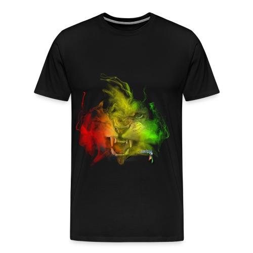 Lion Rasta Pride Tee - Men's Premium T-Shirt
