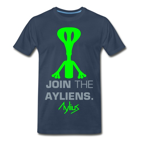 Join The Ayliens Tee (Neon Green/Silver) - Men's Premium T-Shirt