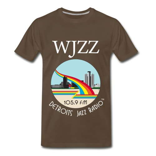 ON SALE!  WJZZ white logo - Get Down Brown  3XL & 4XL - Men's Premium T-Shirt