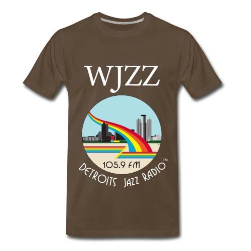 ON SALE!  WJZZ white logo - Get Down Brown  3XL & 4XL - Men's Premium T-Shirt