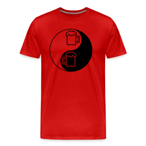 Yin-Yang Beer Mugs Men's 3XL/4XL T-Shirt - Men's Premium T-Shirt