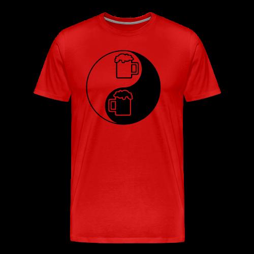Yin-Yang Beer Mugs Men's 3XL/4XL T-Shirt - Men's Premium T-Shirt