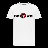 T-Shirts ~ Men's Premium T-Shirt ~ SwimSwam Classic Men's Basic Tee (White)