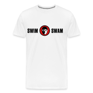 T-Shirts ~ Men's Premium T-Shirt ~ SwimSwam Classic Men's Basic Tee (White)