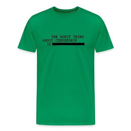 Censorship t-shirt - Men's Premium T-Shirt