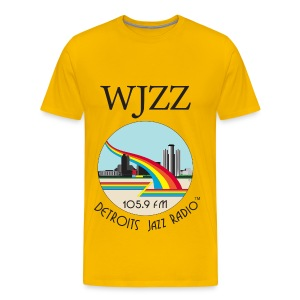 ON SALE!  WJZZ logo - Sun Goddess Gold - Men's Premium T-Shirt