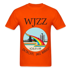 ON SALE!  WJZZ logo - Orange Colored Sky - Men's T-Shirt