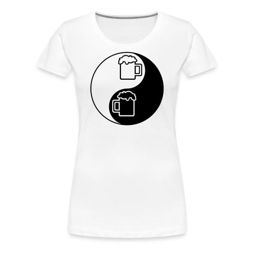 Yin-Yang Beer Mugs Women's Plus Size T-Shirt - Women's Premium T-Shirt
