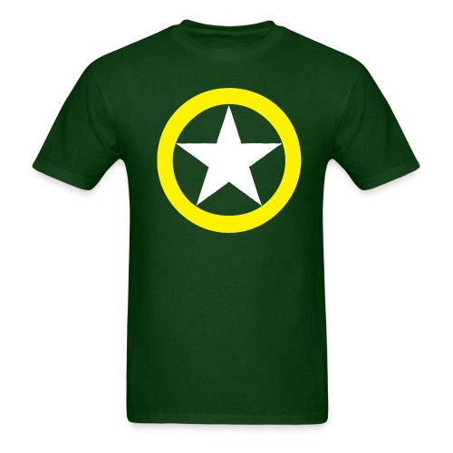 Yellow Ring White Star National Symbol - Men's T-Shirt