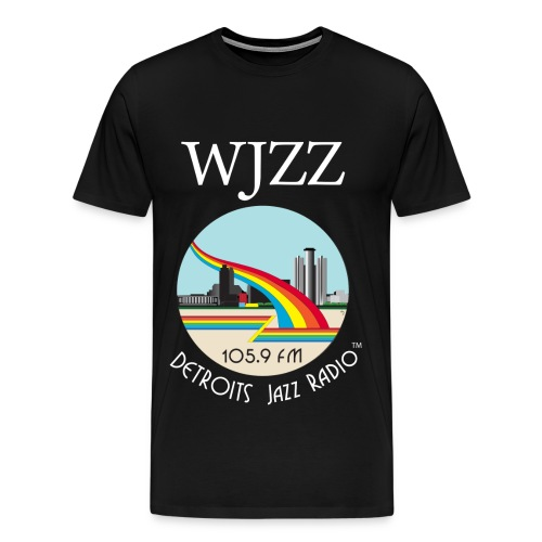 ON SALE!  WJZZ white logo - Black Magic  3XL & 4XL - Men's Premium T-Shirt