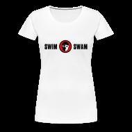 Women's T-Shirts ~ Women's Premium T-Shirt ~ SwimSwam Classic Women's Basic Tee (White)