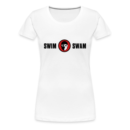 SwimSwam Classic Women's Basic Tee (White) - Women's Premium T-Shirt