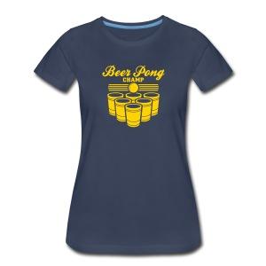 beer pong champ womens - Women's Premium T-Shirt